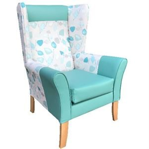 Brandon-High back chair with wings