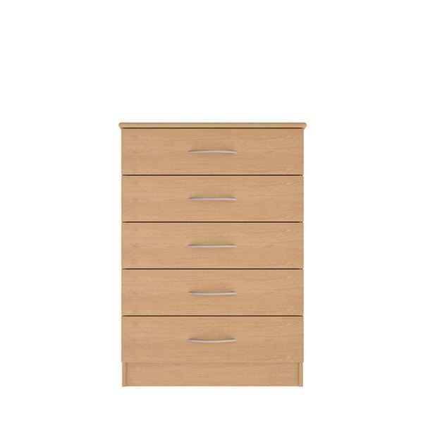 Classic 5 drawer wide chest